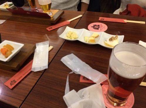 恵比寿ビール記念館-テイスティングサロン-メニュー