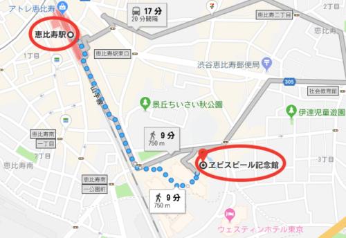 恵比寿ビール記念館までのアクセス