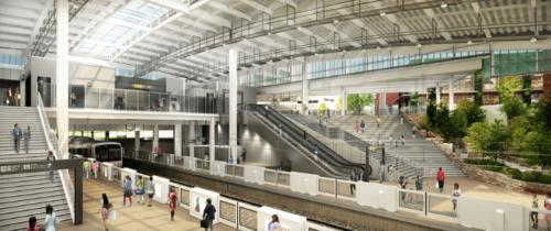 南町田グランベリーパーク駅の完成予定図
