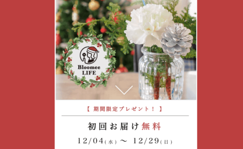 Bloomee LIFE-クリスマスキャンペーン-2019