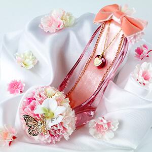 シンデレラのガラスの靴・桜ピンク